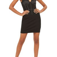Topshop Contrast Stitch Body-Con Dress | Nordstrom