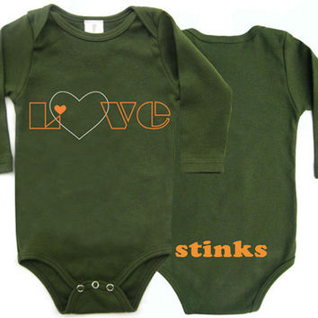 Love Stinks Long sleeves Organic Baby Onesuit
