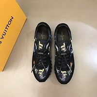 LV Louis Vuitton  Men Fashion Boots fashionable Casual leather Breathable Sneakers Running Shoes 12