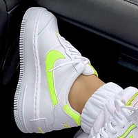 Onewel Nike Air Force 1 AF1 Low-Top Joker Flat Sneakers Shoes Color Add to edge Pink