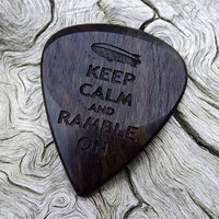 Handmade African Blackwood Premium Guitar Pick - Laser Engraved - Actual Pick Shown - No Stock Photos