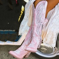 Women Fashion Boots Low Heel Women Shoes Cool British Embroidered Design Soft Short Boots Party Knee High Boots