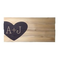 Wedding Sign In Board, Rustic Wood Planks, Personalized