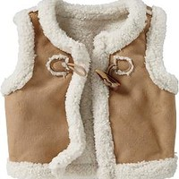 Faux-Shearling Vests for Baby