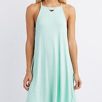 BIB NECK TRAPEZE SHIFT DRESS