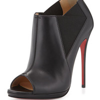 Christian Louboutin Bootstagram Red Sole Bootie, Black
