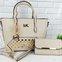 MK Women Shopping Bag Leather Tote Handbag Shoulder Bag Tagre™