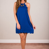 Getting Familiar Dress, Royal Blue