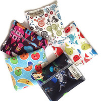 Set of 5 Reusable Snack Bags, Eco Friendly Snack Bags, Reusable Snack Bag
