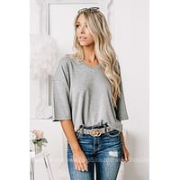 Light As A Feather Basic Crop Top | Heather Grey