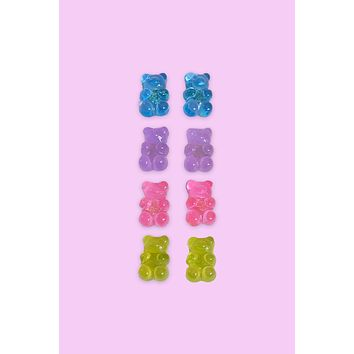 Yummy Gummy Bear Earrings Set