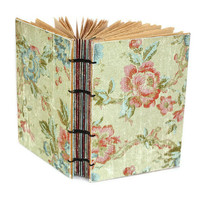Soft Floral Handmade Journal by Thenibandquill on Etsy