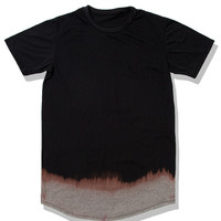 *   Mister Extended Fade Scoop Tee - Black