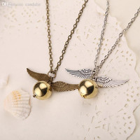 Angel Wings Quidditch Harry Potter Charm Necklace