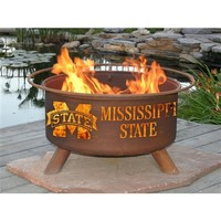 SheilaShrubs.com: Mississippi State Fire Pit F246 by Patina Products: Collegiate Fire Pits