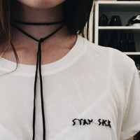 MARGIE STAY SICK EMBROIDERY TOP