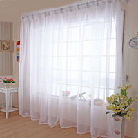 Kitchen Tulle Curtains Translucidus Modern Home Window Decoration White Sheer Voile Curtains