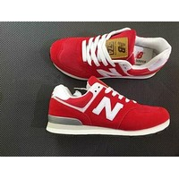 """""""New Balance"""" Fashion Leisure All-Match N Words Breathable Lovers Sneakers Shoes Red I"""