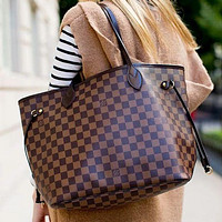 Louis Vuitton LV Trending Ladies Shopping Bag Leather Tote Handbag Shoulder Bag Two-Piece Set