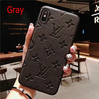 Louis Vuitton LV Fashion iPhone Phone Cover Case For iPhone 7 7plus 8 8plus X iPhone XR XS MAX 11 Pro Max 12 mini 12 Pro Max Gray