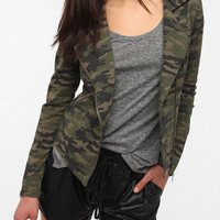 Urban Outfitters - Silence & Noise Camouflage Moto Jacket