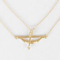 Women's Dainty Bow & Arrow Necklacein Gold by Daytrip.
