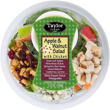 Taylor Farms Apple & Walnut Salad w/Chicken, 5.5 oz - Walmart.com