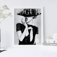 Printable art FASHION COVER PRINT;fashion cover vogue print,prints and quotes,wall art,home decor,fashion poster,fashion decor,poster art,