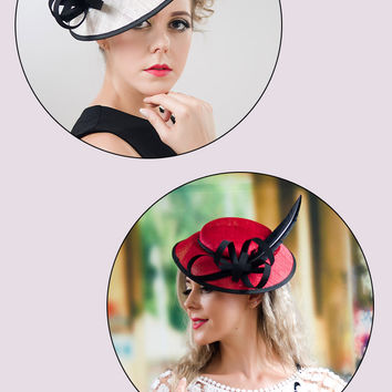Feather Fascinators With Headband - 2 Colors