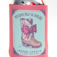 Lauren James: Prep Step Koozie {Burnt Red}