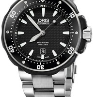 Oris Pro Diver Black Dial Titanium Mens Watch 733-7682-7154MB
