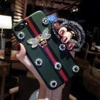 GUCCI iphone 6 6s 6plus 6s-plus 7 7plus Apple mobile phone shell