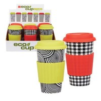 Eco Cup Ceramic Black and White