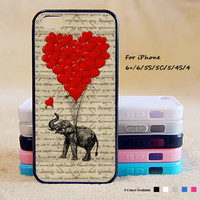 Elephant Ballon Phone Case For iPhone 6 Plus For iPhone 6 For iPhone 5/5S For iPhone 4/4S For iPhone 5C3 iPhone X 8 8 Plus