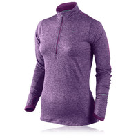 NIKE ELEMENT WOMEN'S HALF-ZIP LONG SLEEVE RUNNING TOP
