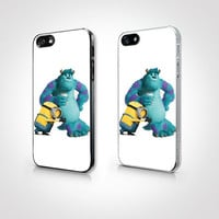PGP-097 - Minions and Monster Case - Minions Case  - Iphone 4 Case - Iphone 4s Case - Iphone 5 Case - 2D Iphone Case - Hard Plastic Case