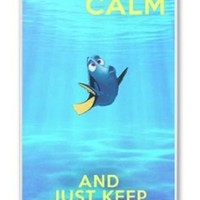 Keep Calm and Just Keep Swimming Iphone 4/4s Case Plastic Hard Phone Case-iphone 4