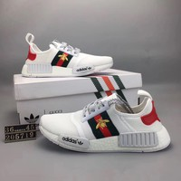 """Adidas NMD Runner Pk"" Summer Unisex Sport Casual Stripe Breathable Sneakers Couple Light Running Shoes"