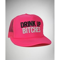 'Drink up Bitches' Trucker Hat - Spencer's