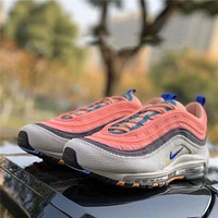 Nike Air Max 97 canvas colorblock bullet atmospheric cushion running shoes pink