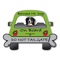 Bernese Mountain Dog On Board - Do Not Tailgate Car Magnet