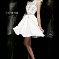Sherri Hill 4300 Ivory Patterned Party Dress [4300] - $235.00 : 2015 Dress Gown Store DressGownStore.com