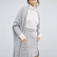 Willow and Paige Maxi Cable Knit Cardigan at asos.com