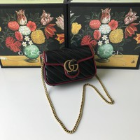 Kuyou Gb99822 Gucci 476433 Gg Marmont Matelass¨¦ Leather Super Mini Bag 16.5x10.2x5.1cm