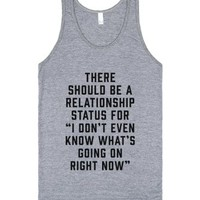 Relationship Status: I Don't Even Know-Unisex Athletic Grey Tank