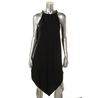 Rachel Roy Womens Sleeveless Handkerchief Hem Cocktail Dress
