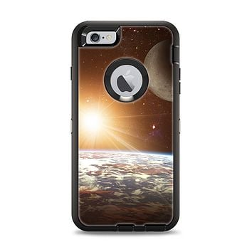 The Earth, Moon and Sun Space Scene Apple iPhone 6 Plus Otterbox Defender Case Skin Set