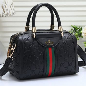 GUCCI Women Fashion Leather Travel Crossbody Bag Tote Satchel