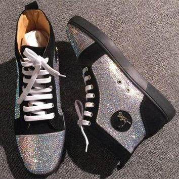 DCCK2 Cl Christian Louboutin Rhinestone Style #1962 Sneakers Fashion Shoes