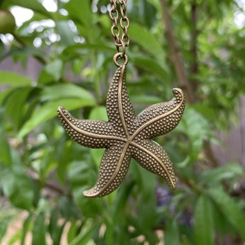 Bronze Starfish Necklace #I1200